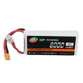 XF POWER 14.8V 6000mAh 60C 4S Lipo Battery XT60 Plug for RC Car