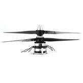 DZP30 Kontra-dönen 1500KV Çift Fırçasız Motor ile Çift 3 Bıçak Pervaneleri 32g Sabit Kanatlı Düzlem RC Uçak Uçak için