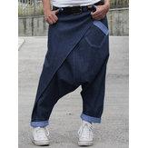 Женский повседневный джинсовый гарем Брюки