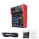4-kanaals audiomixer USB Bluetooth Stereo mengpaneel Stage Live Studio Home Theatre-systeem