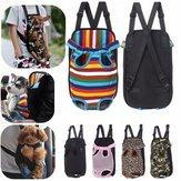 S-XL регулируемый размер домашнего животного щенка Собака Кот Чистый холст Рюкзак Передняя сумка Tote Carrier Плечо Сумка