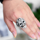 Faucet Hand Dragon Pattern Double Dragon Skull Ring