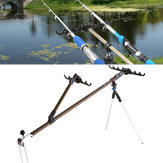 ZANLURE 1.5/1.7m Alloy Fishing Rod Holder Adjustable Fish Pole Stand Bracket With Support Tripod