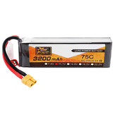 ZOP Power 11.1V 3200mAh 75C 3S Lipo Bateria XT60 Plug para RC Helicopter Car Airplane
