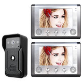 ENNIO 7 inch video deurtelefoon deurbel intercom kit 1-camera 2-monitor nacht visie