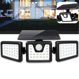 70 LED Solar Light Motion Sensor 3 modos Aplique giratorio al aire libre Yard Garden Lámpara