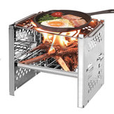IPRee® Outdoor Foladble Barbecue BBQ Grill Cooking Stove Wood Burner Furnace Camping Picnic