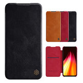 NILLKIN Flip Shockproof Card Slot Holder Full Cover PU Leather Vintage Protective Case for Xiaomi Redmi Note 8