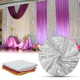 Cortina de pano de mesa de lantejoulas de brilho de 300x130cm para decorações de capina de dia dos namorados
