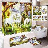 Ванная комната с нескользящей крышкой для унитаза - коврик для ванной