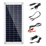 60W 18V High Efficiency Waterproof Solar Panel Charger+Dual USB Vehicle Charger