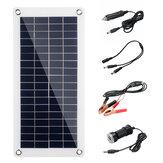 60W 18V Yüksek Verimlilik Su Geçirmez Solar Panel Şarj Cihazı + Çift USB Araç Şarj Cihazı