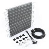 Kit radiatore Olio di raffreddamento del motore a condensatore del tubo del condizionatore d'aria da corsa di alluminio di 4-10 file per l'automobile universale