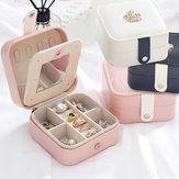 Jewelry Box Organizer Portable Travel Leather Jewellery Ornaments Case Storage