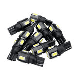 10PCS T10 W5W LED Luces de posición laterales Bombillas interiores 240LM 6000K Blanco