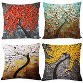 Poszewka na poduszkę Drzewo Kwiat Poszewka na poduszkę Pościel bawełniana Poszewka na poduszkę Prezent Wystrój domu