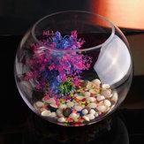 جولة واضح الزجاج زهرية السمك تانك الكرة السلطانية زهرة الغراس تررم ديكور المنزل