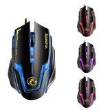 APEDRA A9 3200 DPI 6 Düğmeler Optik USB Kablolu Mouse 4 Renk Kontrollü Solunum Işık Oyun Mouse