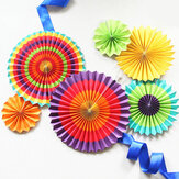 Eid Ramadan Vibrant Decor Colorful Fan Out Display Lantern Color Decorations