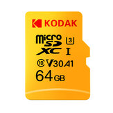 KODAK Mikro SD Bellek TF Flash Kart 64GB 128 GB U3 A1 V30 Mikro SDHC Kart SDXC Kart, Video ve Mobil Depolama için
