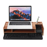 2 Tiers Wooden Computer Monitor Riser Desktop Laptop Stand Organizer Storage Shelf Keyboard Storage Rack