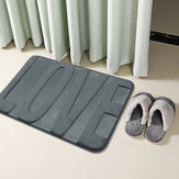 Coral Fleece Memory Foam Matten Bad Saugfähiger, rutschfester Duschteppich Teppich
