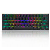 FEKER 60% NKRO bluetooth 5.0 Type-C Switch Outemu PBT Double Shot Keycap RGB Meccanico Tastiera da gioco - Nero