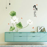 Miico SK9338 Lotus Painting Stickers Living Room And Bathroom Decorative Wall Sticker