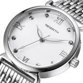 REBIRTH RE034 Full Steel Elegant Дизайн Женские наручные часы с римским номером Кварцевые часы