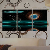 Original Miico Hand Painted Three Combination Decorative Paintings Starry Meteorite Wall Art For Home Decoration