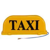 Cabina TAXI universale 26cm Targa magnetica per auto lampada tetto Top Topper giallo impermeabile leggero