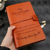 Engraved Leather Journal Notebook Diary To My Daughter Face Challenges Love Dad Engraved Notebook Diary