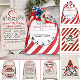 Santa Sack Canvas Bag Party Christmas Candy Bags Xmas Decorations for Kids Gift