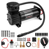 10 GAL 12V 200 PSI 444C Max Horn Air Compressor With Relays Switch For Truck Boat