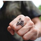 Anubis Древнеегипетская лысуха, титановое стальное кольцо