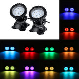 LED RGB Aquarium Light Fonte submersa Underwater Pond Spot Lights com remoto Controller