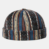 Corduroy Brimless Skull Cap Stripe Multicolor Customized Hat