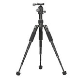 Foldable Portable Mini Tripod with Tripod Head Ballhead Level Bubble