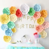 2Pcs Giant Paper Rose Flower 20cm DIY Backdrop Wall Wedding Party Birthday Decorations