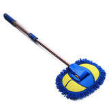 Adjustable Telescopic Wash Chenille Mop Wiping Soft Cleaning Brush Tool