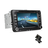 7 Inch 2 Din For Wince 6.0 Coche Estéreo Radio Reproductor DVD MP5 bluetooth GPS SD FM manos libres USB con vista trasera Cámara Para VW Passat Golf Transporter T5