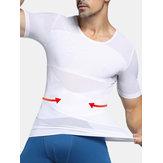 Nylon respirável ferrolho cintura treinador roupa interior