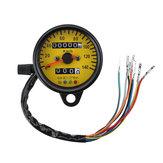 Double compteur kilométrique KMH Night Vison Jauge Compteur Compteur LED Rétroéclairage Signal