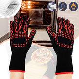 BBQ Grill Handschuhe Barbecue Silikonhandschuh Hitzebeständige Handschuhe Rauchen Kochen Küche