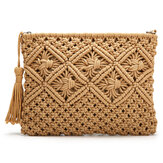 Clutch Purses for Women Straw Handbag Handwoven Bag Summer Beach Bag