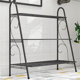 3 Layer Iron Succulent Flower Pots Plant Stand Display Bookshelf Shoe Organizer