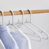 QUANGE 10 sztuk Wieszak na ubrania Odzież Organizator Antypoślizgowy stojak do suszenia Wielofunkcyjny hak w kształcie litery U Stały uchwyt od Xiaomi Youpin