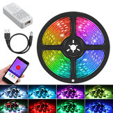 1M 2M 3M 5M bluetooth Control RGB USB WS2812B Individually Addressable LED Strip Light KTV Bar Home Stair DC5V Christmas Decorations Clearance Christmas Lights