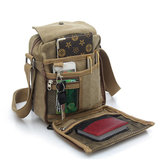 Multifuctional Large Capacity Retro Men Canvas Messenger Bags Shoulder Bag Sling Casual for Outdoor Sport Travel Hiking