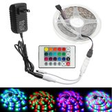 2M 3M 5M 10M 8mm DC12V Waterproof RGB LED Light Strip Remote Controller Outdoor Indoor KTV Hotel Home Decor